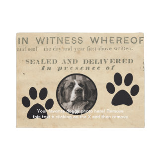 Your Dog Photo n Paws 1860 Legal Document Funny Doormat