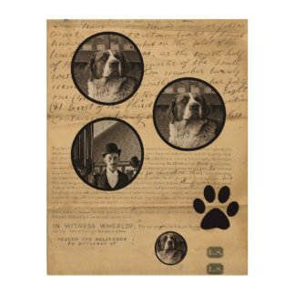Your Dog Photo n Paws 1860 Legal Document Funny Wood Wall Decor