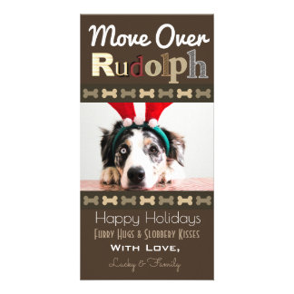 Your Dogs Christmas Reindeer Card