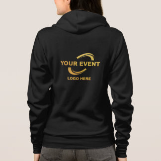 Your Event Logo Hoodie Jacket W Black