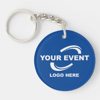 Your Event Logo Keychain - Choose Color