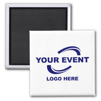 Your Event Logo Magnet Square W