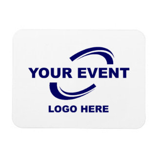 Your Event Logo Magnet White or Pick Color