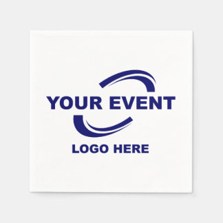 Your Event Logo Paper Cocktail Napkins Paper Napkin