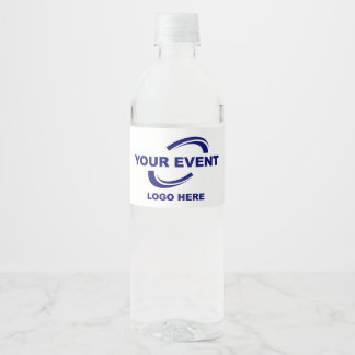 Your Event Logo Water Labels White