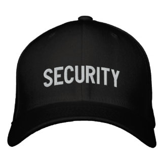 Your Event Security Hat Black Embroidered Baseball Cap