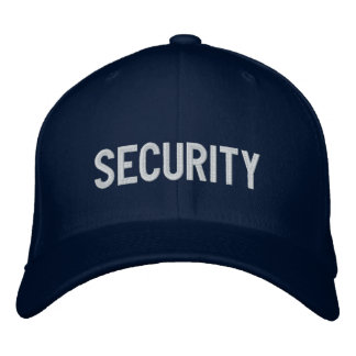 Your Event Security Hat Blue Baseball Cap