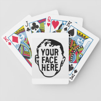 your-face-here bicycle playing cards