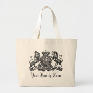 Your Family Name Customizable Crest Tote Bag