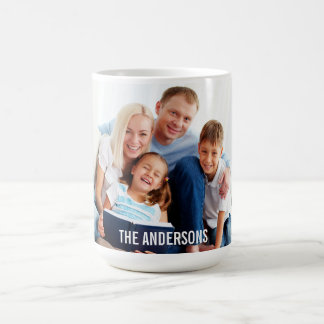 Your Family Photo Mug Large Name or Your Text