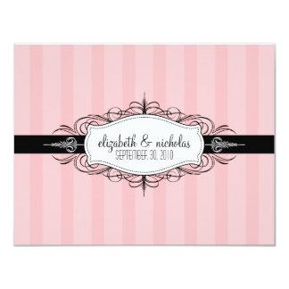 """YOUR Favorite Color: Chic Deco Wedding Invitation 4.25"""" X 5.5"""" Invitation Card"""