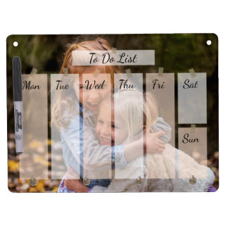 Your favorite photo Timetable personalized Dry Erase Board With Key Ring Holder