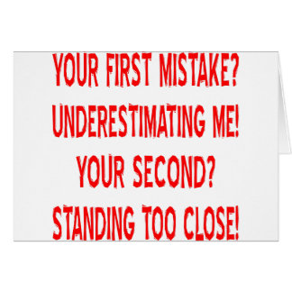 Your First and Second Mistakes Card
