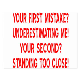 Your First and Second Mistakes Postcard