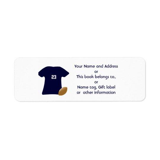 Your Football Shirt Return Address Labels