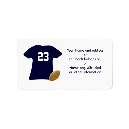 Your Football Shirt w/ American Football Labels