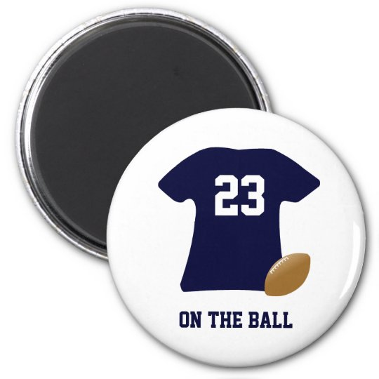 Your Football Shirt With Ball 6 Cm Round Magnet