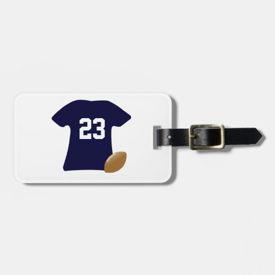 Your Football Shirt With Ball Luggage Tag