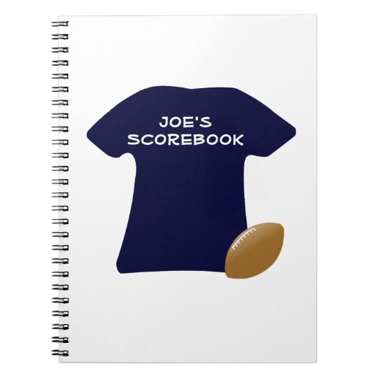Your Football Shirt With Ball Notebook