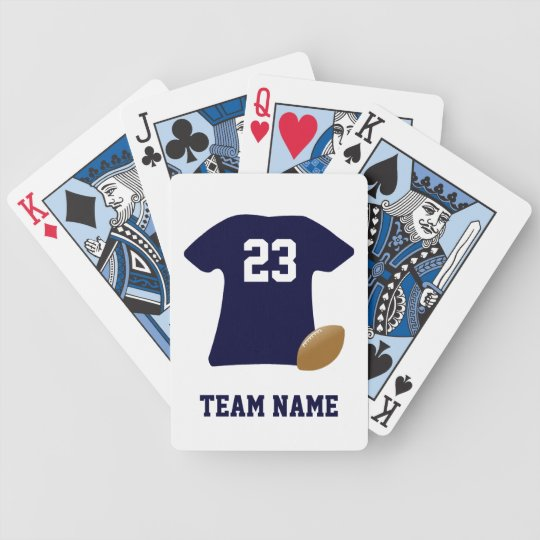 Your Football Shirt With Ball Playing Cards