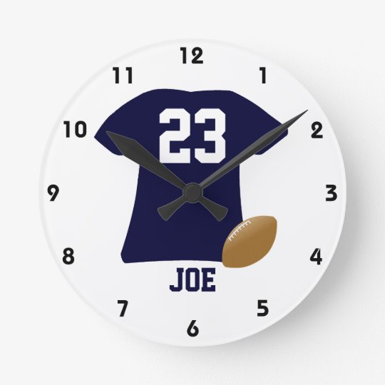 Your Football Shirt With Ball Wall Clocks
