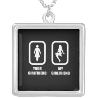 your-girlfriend-my-girlfriend silver plated necklace