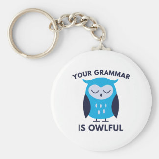 Your Grammar Is Owlful Key Ring