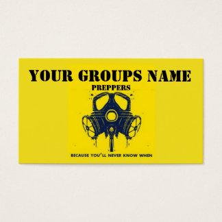 YOUR GROUPS NAME BUSINESS CARD