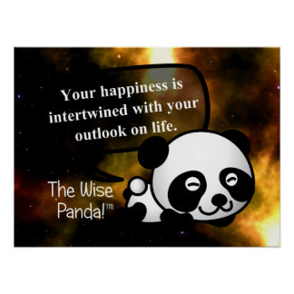 Your happiness depends on your outlook on life poster
