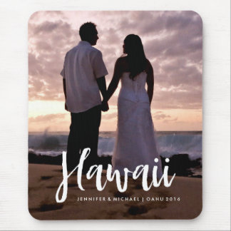 Your Hawaii Vacation Photo with Stylish Typography Mouse Pad