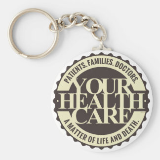 Your Health Care Basic Round Button Key Ring