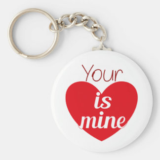 Your heart is mine keychain