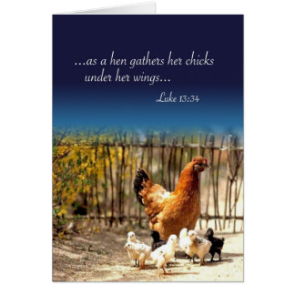 Your hen has been called home card