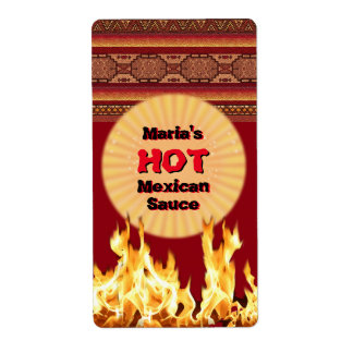 Your Hot Mexican Sauce (customizable) Shipping Label