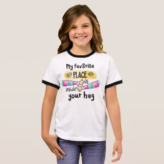 Your Hug My Favorite Place   Ringer Shirt