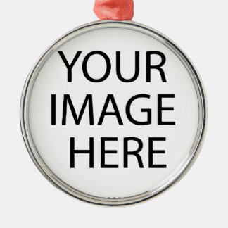YOUR IMAGE HERE CREATE A CUSTOM Silver-Colored ROUND DECORATION