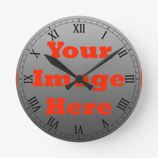 Your Image Here (Vertical) Round Clock
