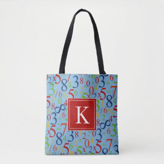 Your Initial | Colorful Math Tote Bag
