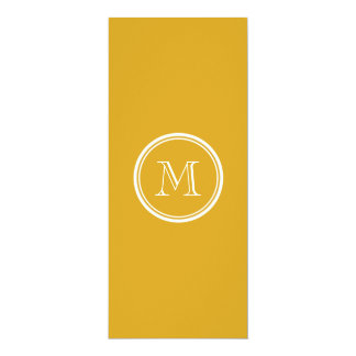 Your Initial Goldenrod High End Colored 4x9.25 Paper Invitation Card