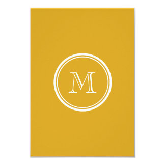 Your Initial Goldenrod High End Colored 9 Cm X 13 Cm Invitation Card