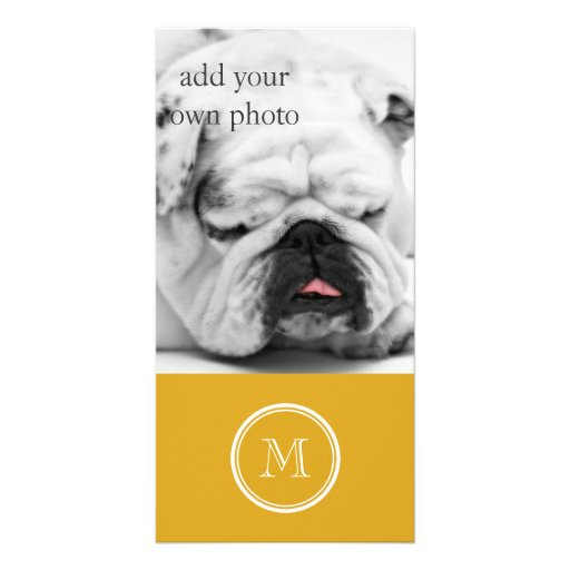 Your Initial Goldenrod High End Colored Personalized Photo Card