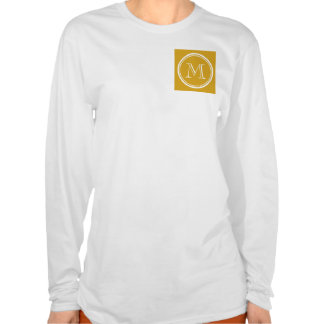 Your Initial Goldenrod High End Colored Shirt