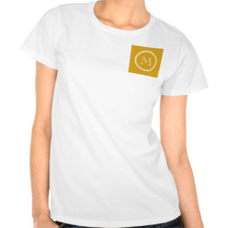 Your Initial Goldenrod High End Colored Tee Shirts