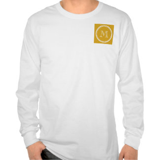 Your Initial Goldenrod High End Colored T Shirts