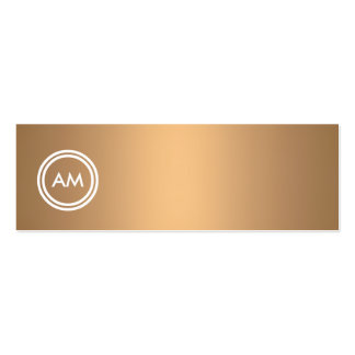 YOUR INITIALS LOGO on COPPER Slim Business Card