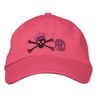 Your Keep Calm Crown Crossbones Skull Monogram Embroidered Hat