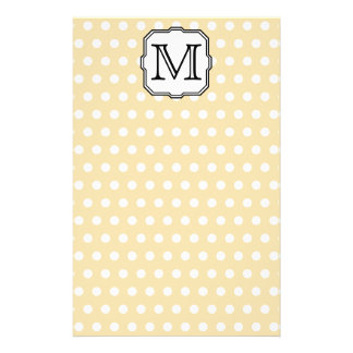Your Letter. Custom Monogram. Beige Polka Dot. 14 Cm X 21.5 Cm Flyer
