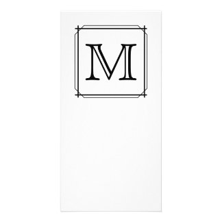 Your Letter. Custom Monogram. Black and White Photo Cards