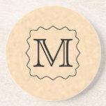 Your Letter. Custom Monogram. Black & Parchment