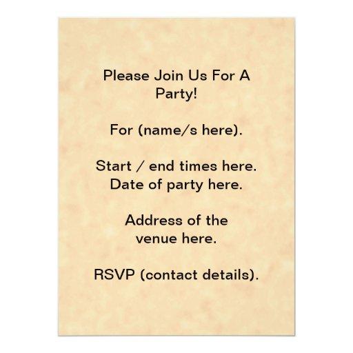 Your Letter. Custom Monogram. Black & Parchment 17 Cm X 22 Cm Invitation Card